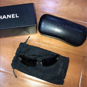 Chanel Vintage Sunglasses with rhinestones